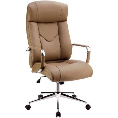 Furniture of America Sibile Contemporary Office Chair, Camel, Brown
