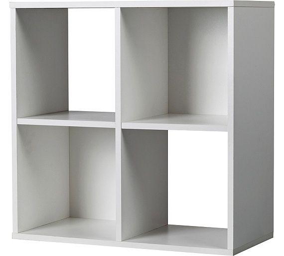 Buy HOME Squares 4 Cube Storage Unit - White at Argos.co.uk, visit Argos.co.uk to shop online for Storage units, Storage, Home and garden