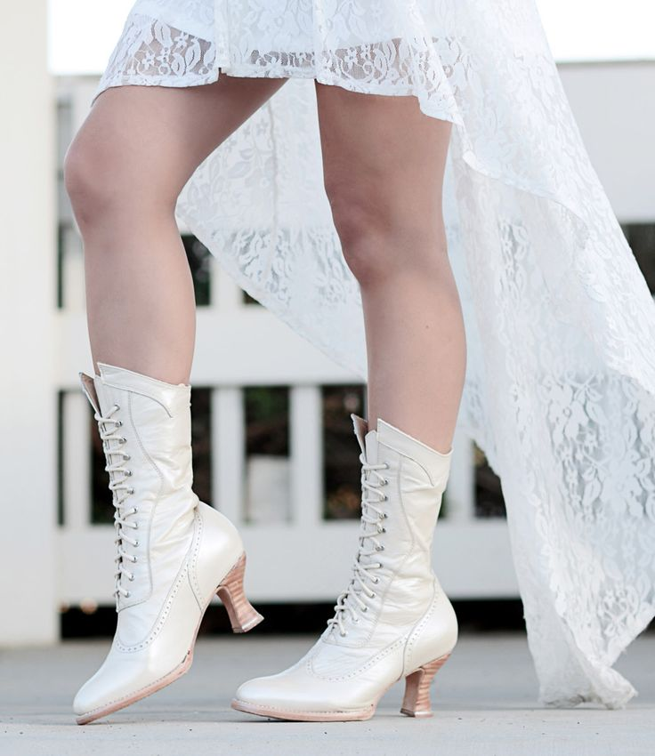 PEARL by OAK TREE FARMS, is the Victorian Wedding boot you've been looking for.
