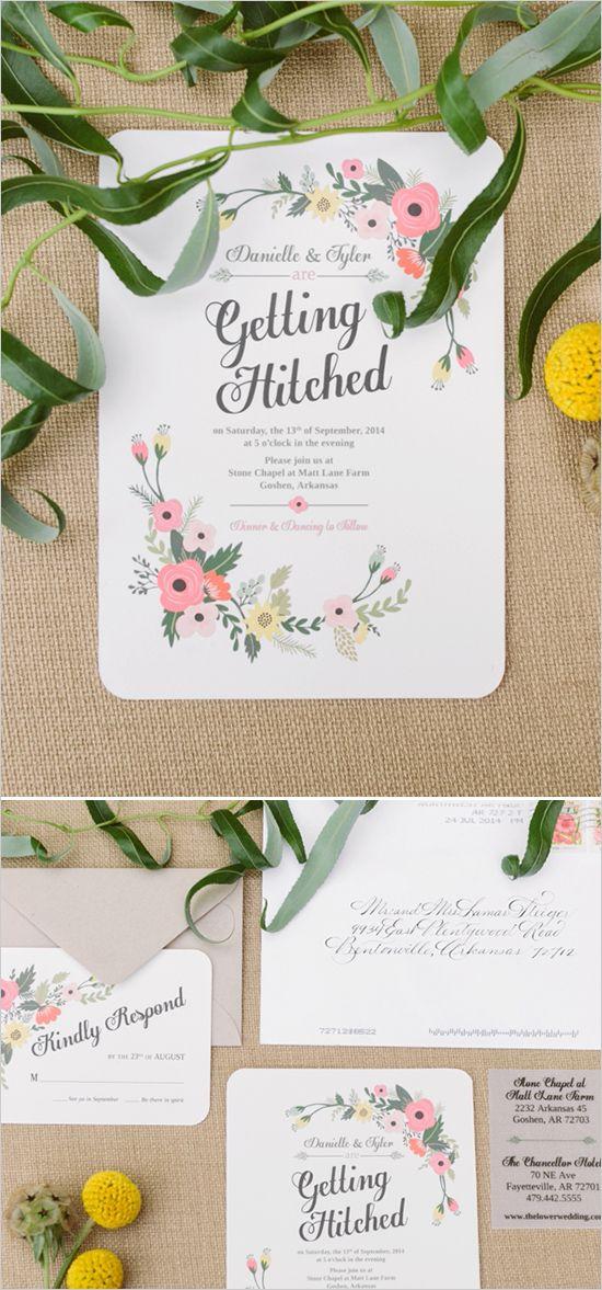 getting hitched wedding stationery @weddingchicks