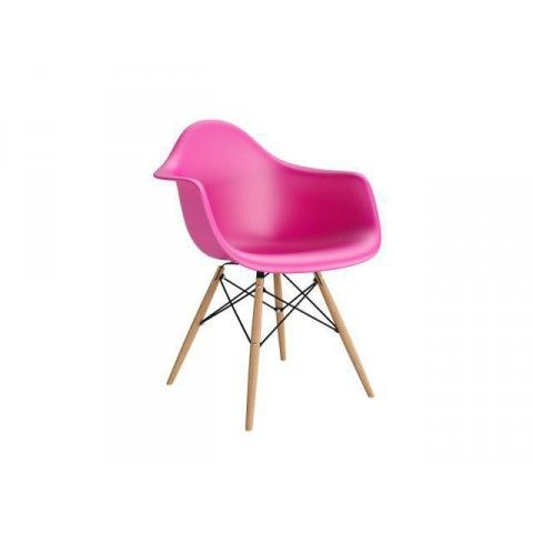 Quadre DEsign Krzesło Eiffel Wood Arm Premium insp. DAW różowe