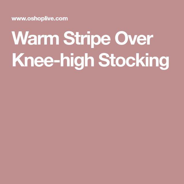 Warm Stripe Over Knee-high Stocking