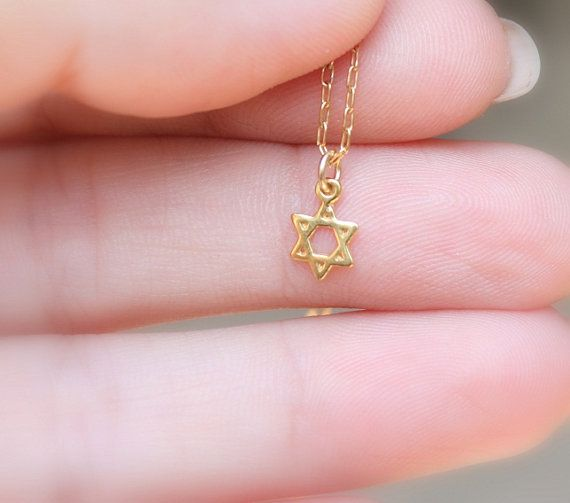 star of david  Teeny tiny gold star of david by JulJewelry on Etsy, $23.00