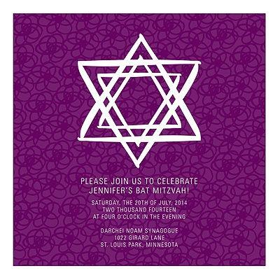 13 best bat mitzvah invite ideas images on pinterest bat mitzvah bat mitzvah invites linear star of david in purple pear tree greetings m4hsunfo