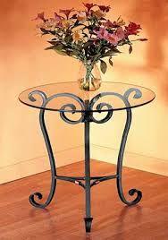 Resultado de imagen para mesas en hierro forjado
