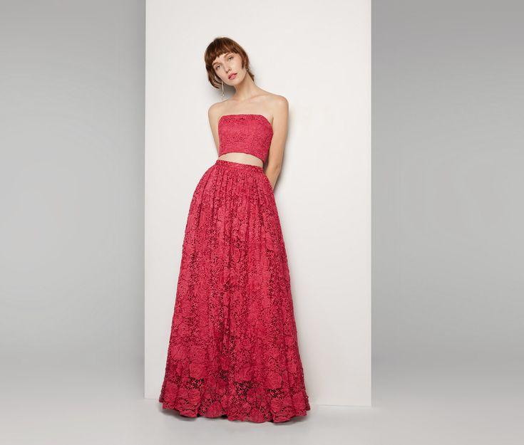 Hot Pink Lace Debutante Dress | Fame & Partners USA