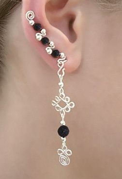 This is for single ear piercings www.dalatroucreations.com ear sweep with dangle