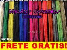 Aplique Mechas Coloridas Cabelo Humano Tic-tac Frete Grátis - R$ 16,98