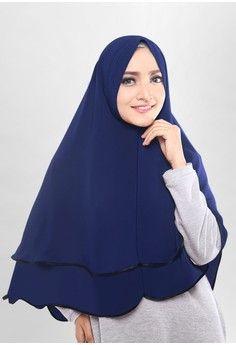 Wanita > Baju Muslim > Hijab > Jilbab Instan > Cotton Bee Khalisa Khimar - Navy Blue > COTTON BEE