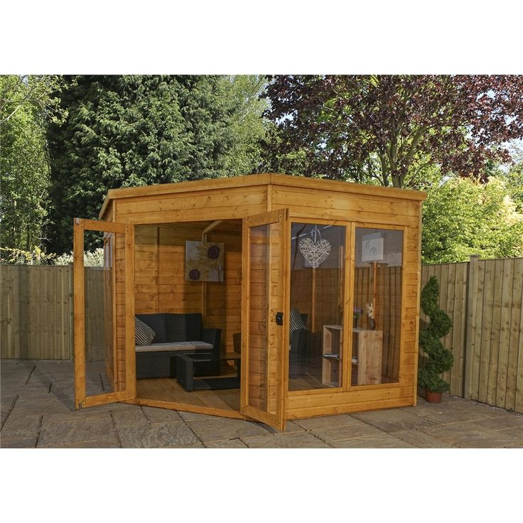 9ft x 9ft (2.80m x 2.80m) Solis Premier Corner Summerhouse