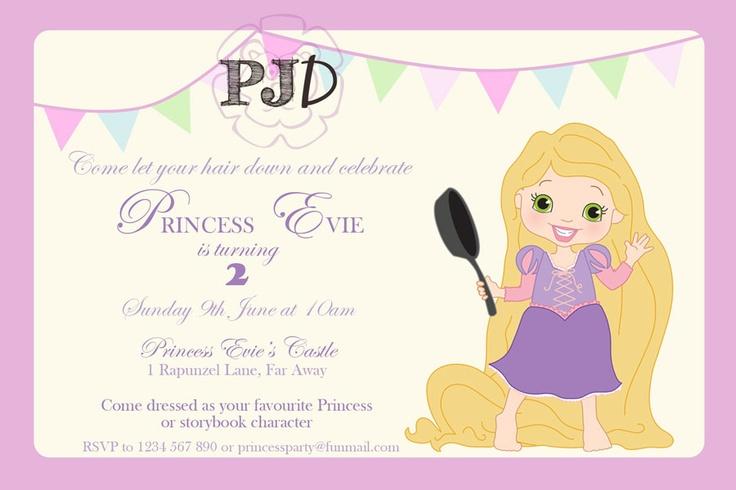 Custom Design - Card and layout by Purple Jungle Designs.  Rapunzel image by Melissa Bastow from Dorky Prints Etsy shop. http://www.etsy.com/listing/125389737/disney-princess-digital-clip-art-set