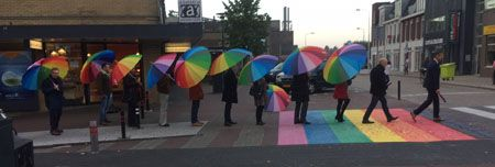 Regenboogzebra in Berkel centrum onthuld