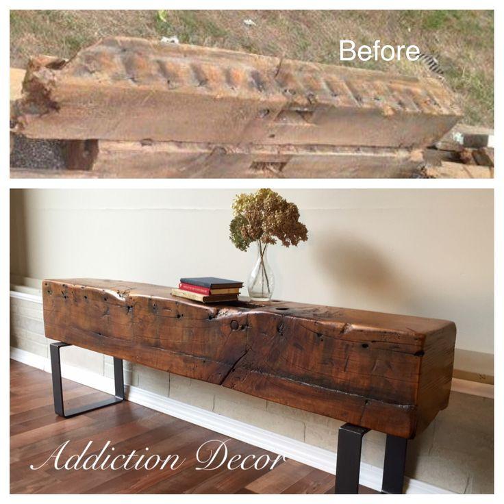 Barn Wood Furniture Ideas: Repurposed Barn Beam By Addiction Decor