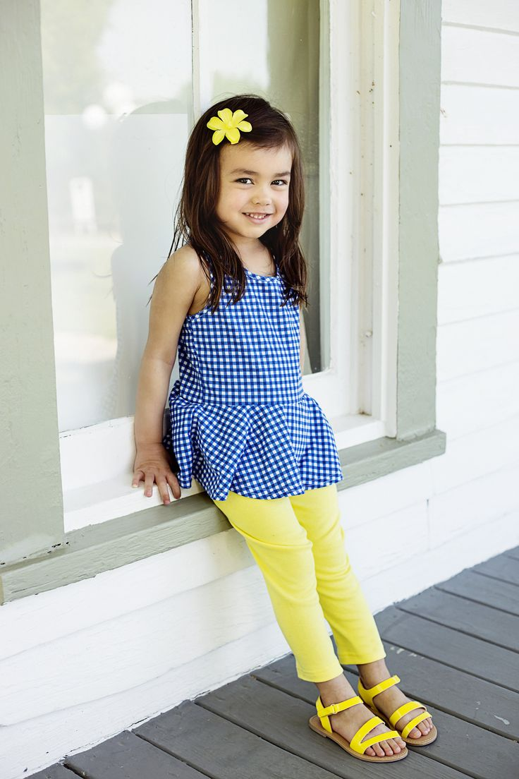 """Gingham and blues"" peplum by Sew Chill"