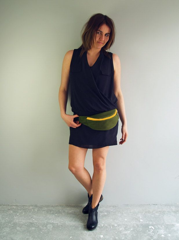 saszetka classic butelkowa zieleń + żółty zamek http://puroldesign.pl/nerka-saszetka-designerska-unisex #nerka