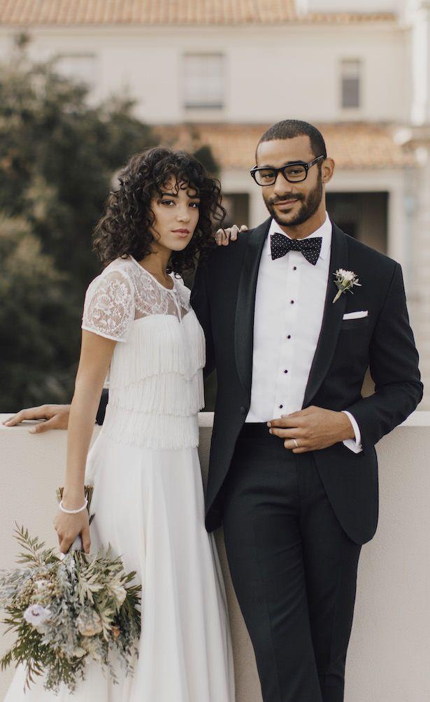 793ee8958fc Modern Wedding Day Look by The Black Tux #tuxedo #bridetobe #bride  #fashionistas #weddings #bridal #groom #love #styleinspiration  #weddinginspiration