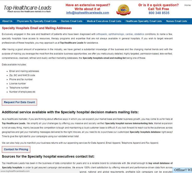 Purchase cost-effective and custom-built Email list of Specialty ...
