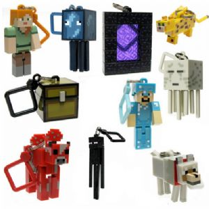 Minecraft Keyring Figures - Set of 10