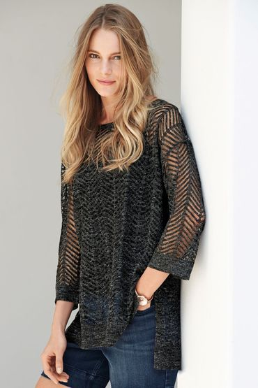 Buy Next Linen Mix Stitch Sweater | Shop Tops Womenswear at the BrandStore EziBuy NZ