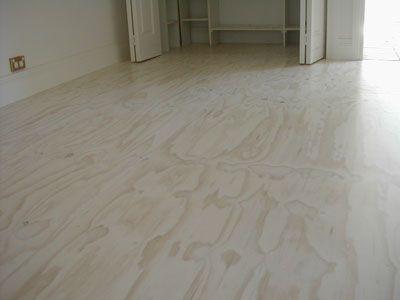 one coat of lime wash (porters)  on new plywood  with water based matt finish polyurethane.