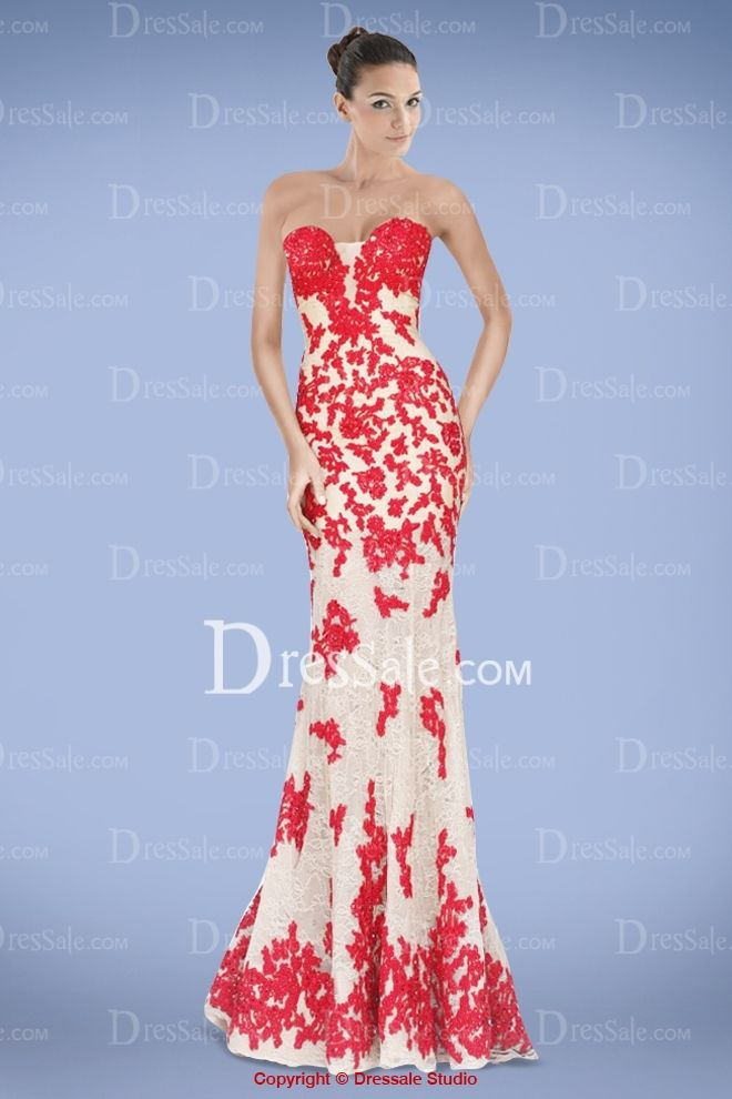 Voluminous Sweetheart Neckline Floor Length Prom Dress with Appliques Lace Overlay
