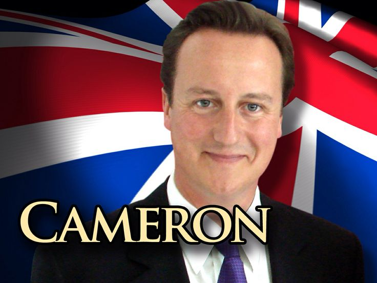Britain's Prime Minister, David Cameroon. Member of Conservative Party. Approval rating =~37%.