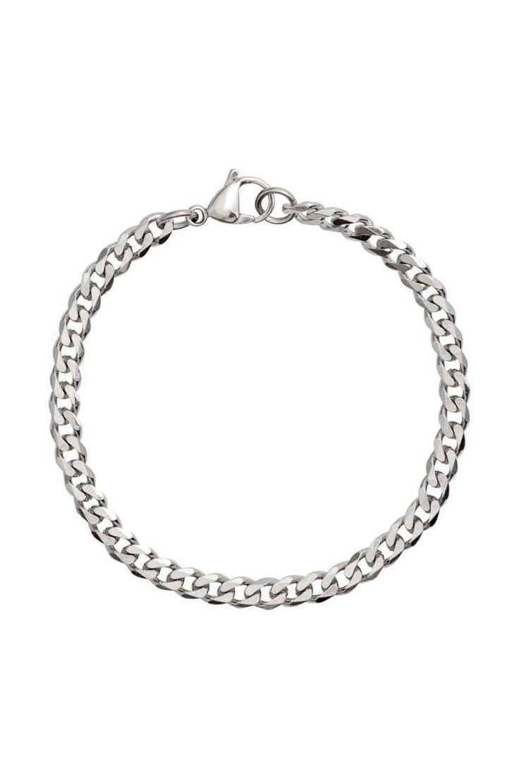 Metalen armband - Zilverkleurig - HEREN   H&M NL 1