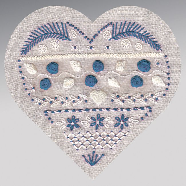Ohhh - another nice embroidery kit from Rouge du Rhin - this one includes a bit of stumpwork-like berries and some silk ribbon embroidery. In the US, they can be found at The French Needle.