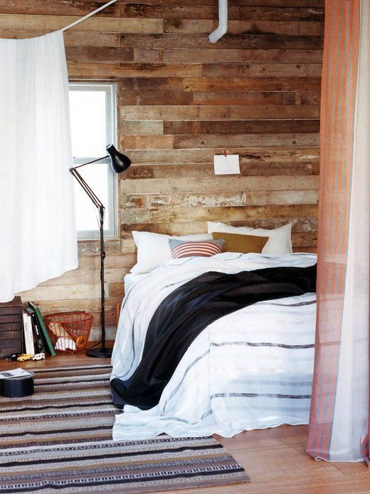 ELLE DECOR: Design Collection, Elle Decor, Lamps Interiors, Decor House, Floors Lamps, Rustic Modern, Rustic Wood, Wood Wall, Wood Panels