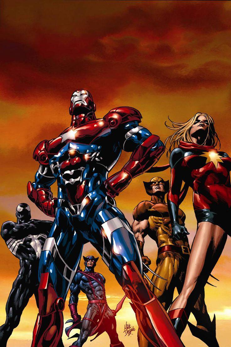 Dark Avengers #1 2nd Printing Art by Comic Artist Mike Deodato #Comics #Illustration #Drawing