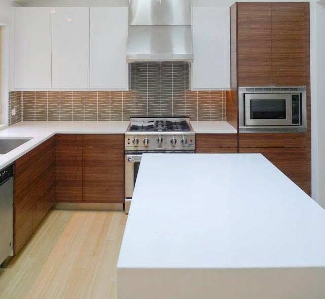 Ikea Kitchen With Semihandmade Rift Walnut Fronts