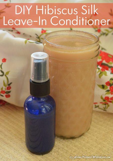 DIY Hibiscus Silk Leave-In Conditioner Recipe | www.NaturalBeautyWorkshop.com