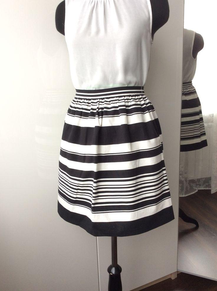 #Skirt, #cotton, #stripes, #assemble #Handmade #Юбка, #хлопок, #полоска, #сборка, #юбка на поясе.