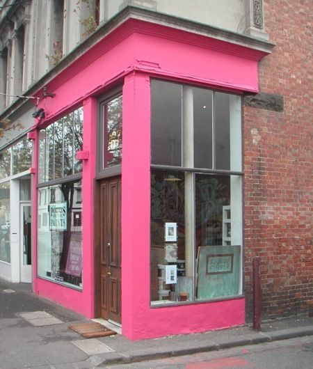 Porter's Paints Fitzroy showroom in the colour 'Priscilla'!