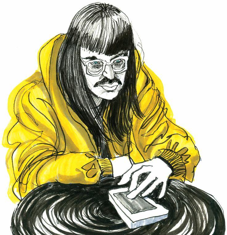 The Tourist: Drawn in Starbuck's, Spring Garden Road, Halifax, Nova Scotia.