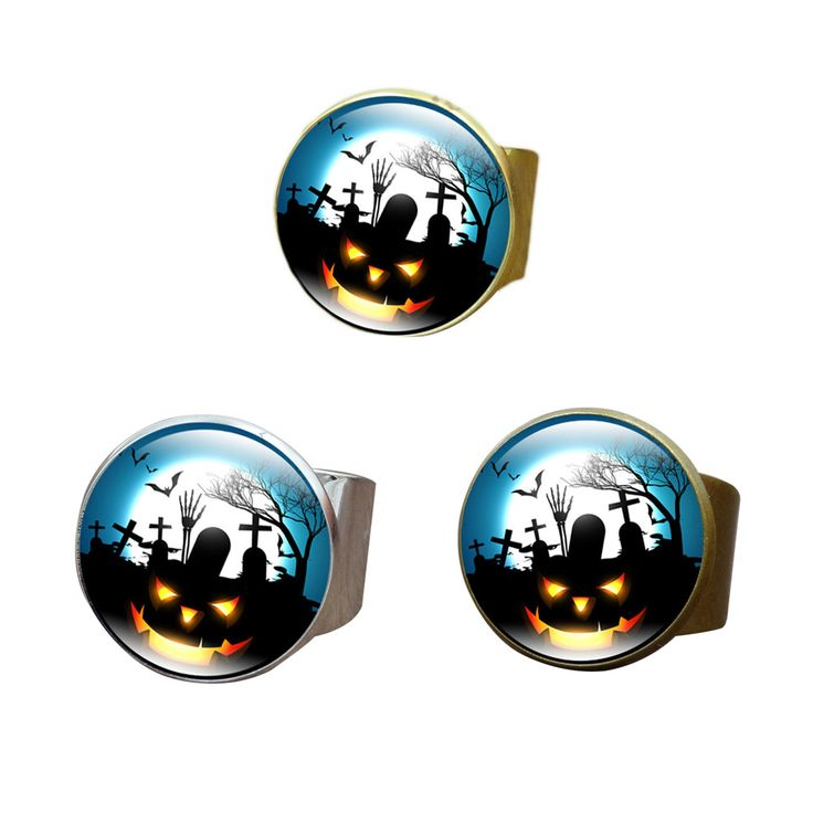 Time Gem Cartoon Little Monster Glass Circular Ring  Birthdays Christmas Halloween Jewelry Gifts New Style #Affiliate