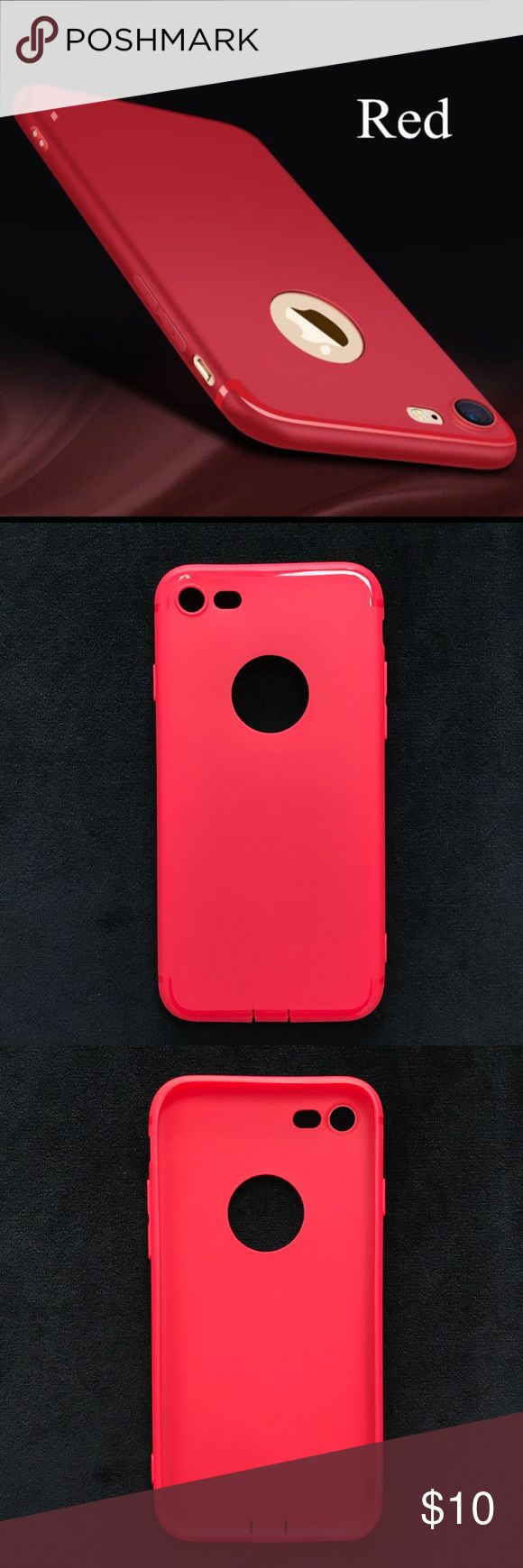Iphone Soft Matte Phone Case NWT. * 100% Brand New. * Stylish And Elegant, Versatile And Practical Wear Products. * Precise cutouts give you full access to ports, and sensitive button covers allow responsive presses. * Designed to perfectly fit the You iPhone. * Model: For iPhone 6/6s. Iphone 7 plus * Color: Red. See photo for more details. Last photo is the item. No Trades. Price is Firm Accessories Phone Cases
