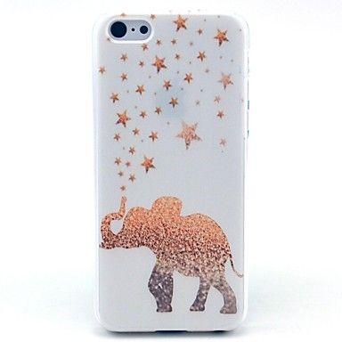Golden Star Elephant Pattern PC Hard Case for iPhone 5C – EUR € 2.87