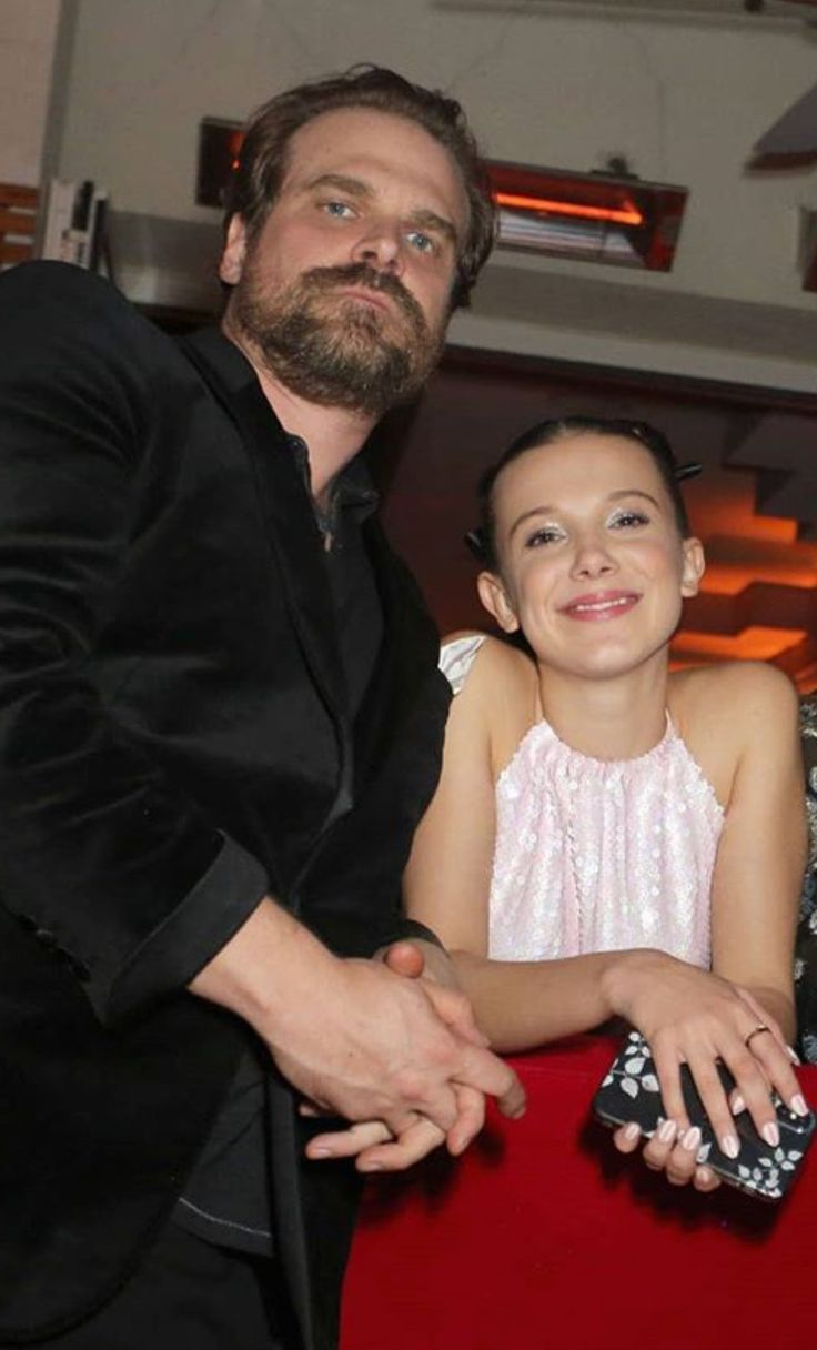 David Harbour & Millie Bobby Brown