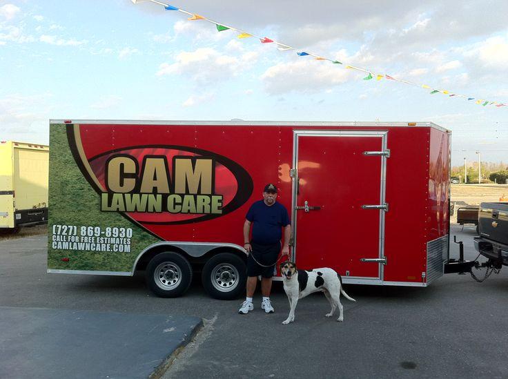 CAM Lawn Care Trailer Wrap Lettrage remorque cargo