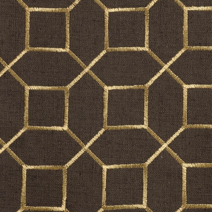 Gold Nugget Black and Metallic Contemporary Embroidery ...