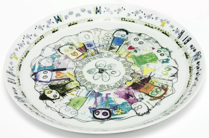 Poul Pava Round Plate 34cm. Available from www.livin.co.za