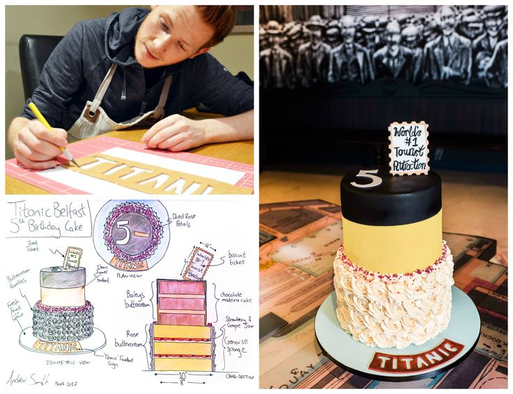 To mark Titanic Belfast's fifth birthday, Great British Bake Off Finalist, Andrew Smyth has engineered a bespoke birthday cake for the occasion.  Read all about it at