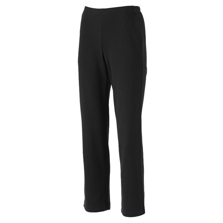 Croft & Barrow® Corduroy Straight-Leg Pull-On Pants - Petite