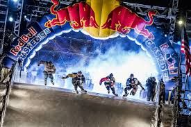 """Experiential Marketing - Red Bull  Crashed Ice. This event is sponsored by Red Bull and contributes to the overall """"extreme"""" image of the energy drink, relating it to a extreme sport or event."""