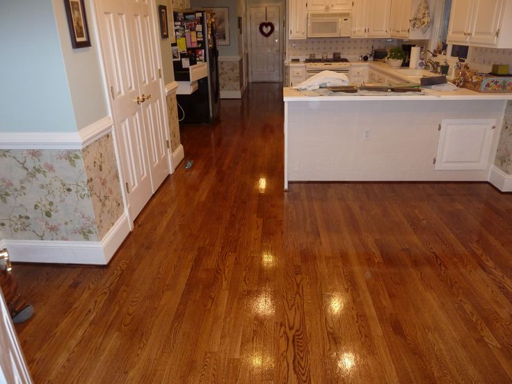2 1 4 39 39 Red Oak Hardwood Flooring Stained Golden Oak And Coated With