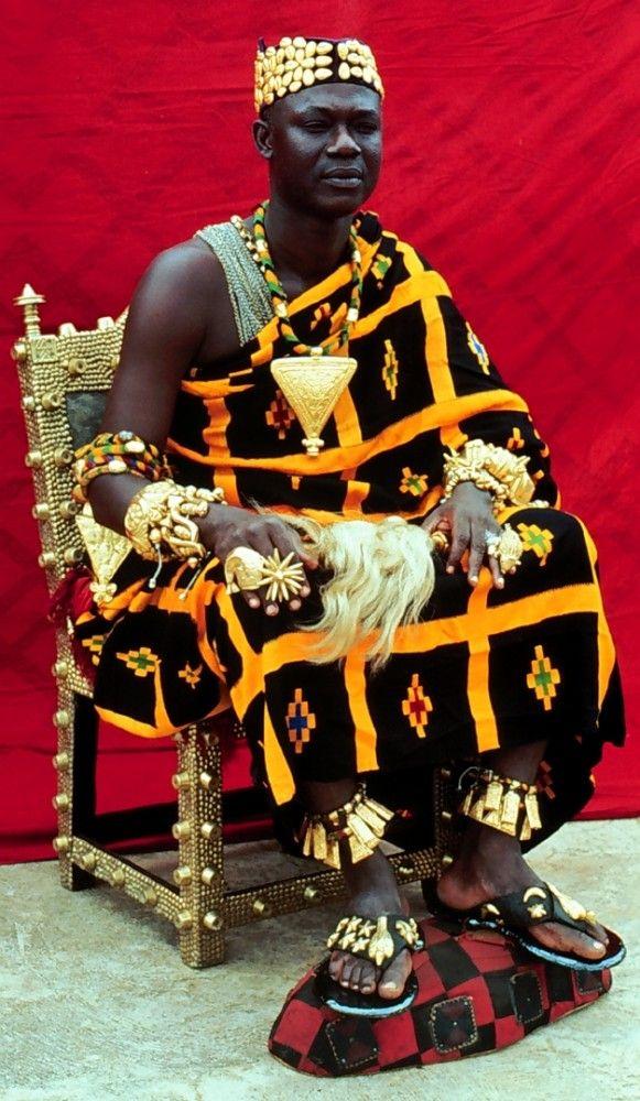 Nana Oduro Numapau Essumeja, Paramount Chief of the Asante state of Essumeja, Asante, Ghana, 1979