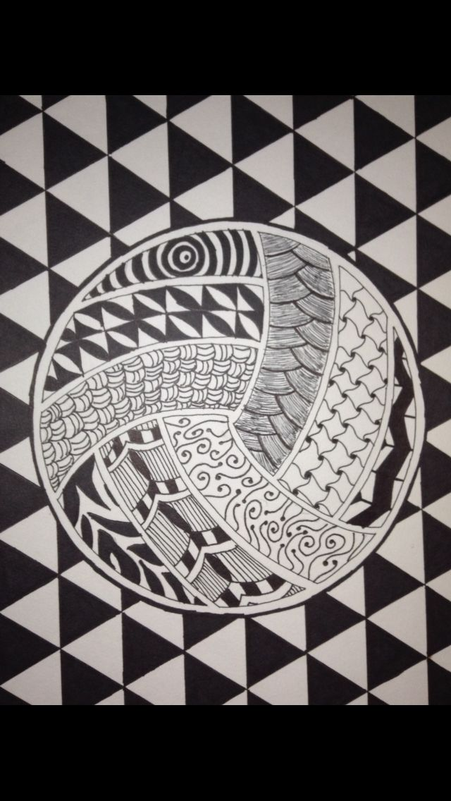 Volleyball Zentangle