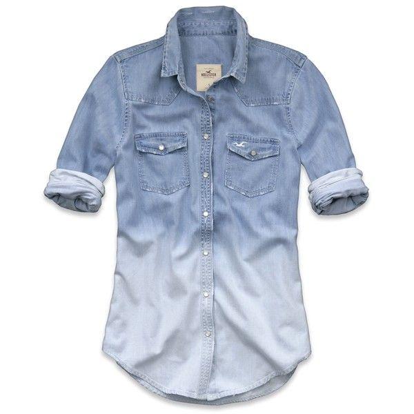 hollister denim shirt