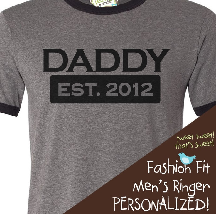 new dad shirt - daddy established 2012 or any year - great father's day shirt gift idea. $22.50, via Etsy.